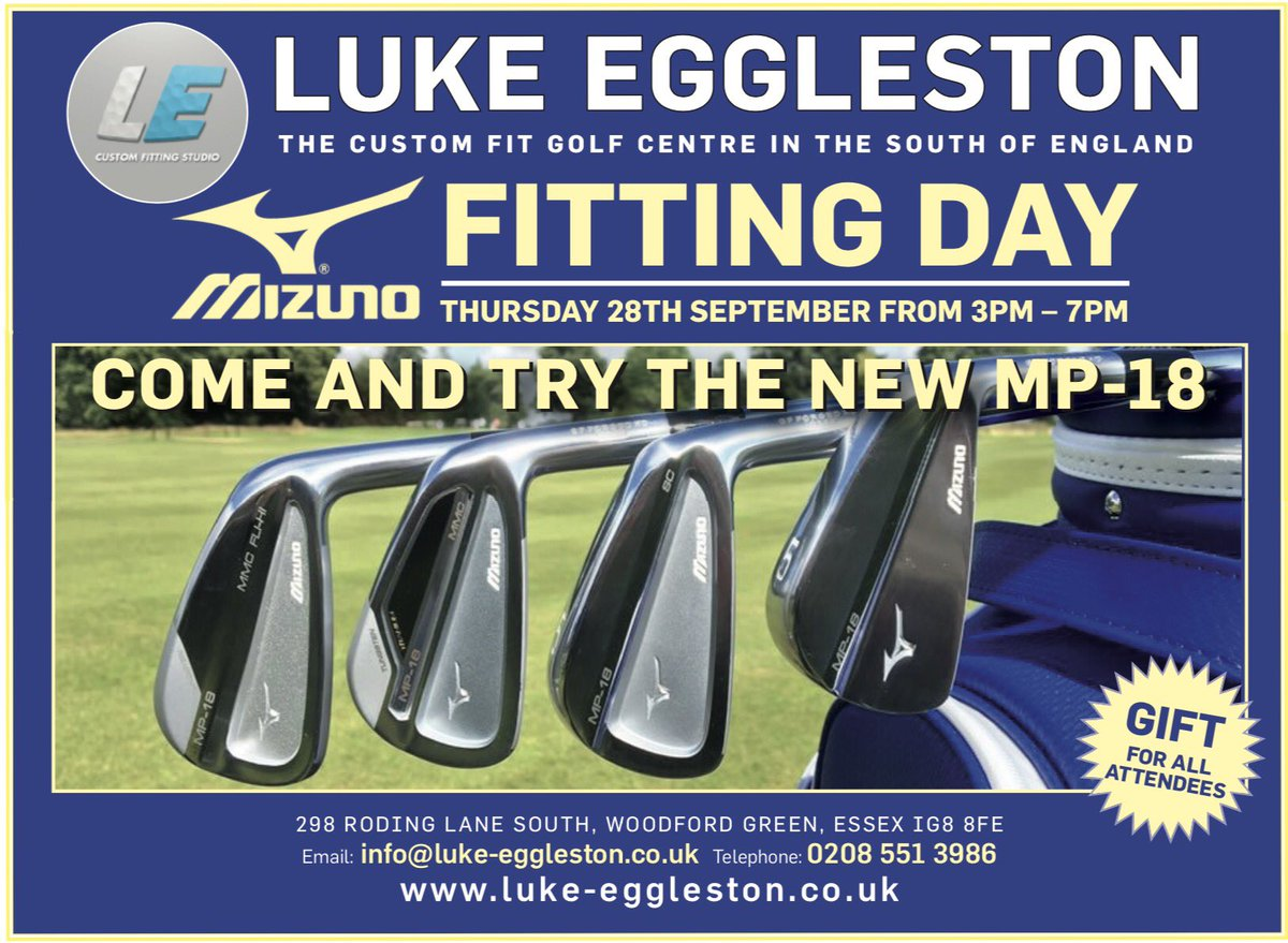 Mizuno Fitting Day - 28th September. ironstotouchyoursoul